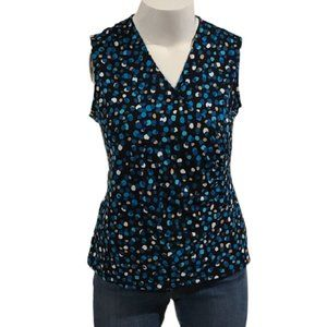 [George] Spotted V-neck Top - Size L 12-14